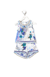 INFANTS DOUBLE LAYER PLAYSUIT WHITE SIDE OF THE MOON