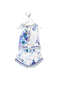 KIDS DOUBLE LAYER PLAYSUIT WHITE SIDE OF THE MOON