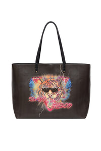 VEGAN LEATHER EAST WEST TOTE SLAVE TO THE RHYTHM