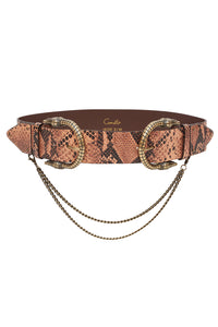 DOUBLE CROC LEATHER BELT TALES OF TALITHA