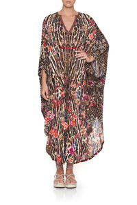 JERSEY LONG KAFTAN WITH ROUNDED HEM LIV A LITTLE