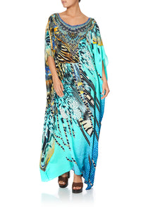 ROUND NECK KAFTAN MARINE QUEEN