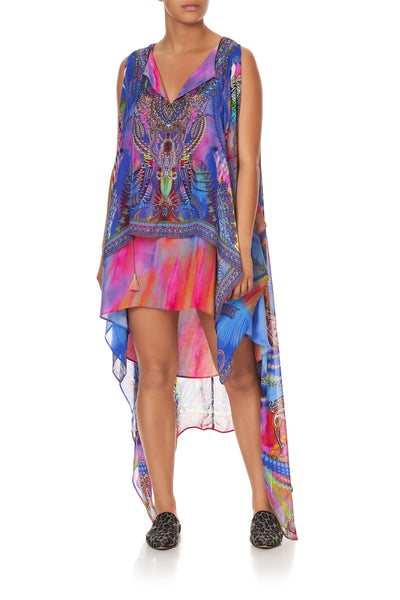 LONG SHEER OVERLAY DRESS PSYCHEDELICA
