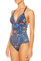 BALL HALTER ONE PIECE KINDNESS KALEIDOSCOPE