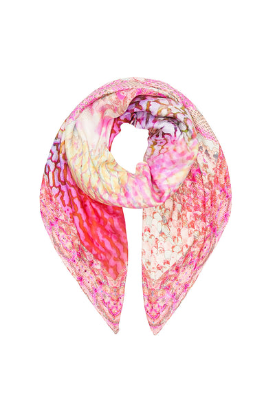 LARGE SQUARE SCARF SERPENTINE DREAMS