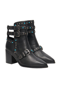 BOHEMIAN STUD BOOT BLACK