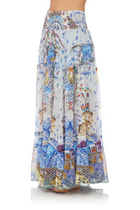 CAMILLA 4 TIERED GATHERED SKIRT GEISHA GATEWAYS