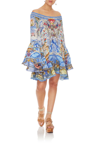 CAMILLA A-LINE FRILL DRESS GEISHA GATEWAYS