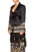 CAMILLA BLAZER WITH CHIFFON CONTRAST FRIEND IN FLORA