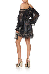 BLOUSON FRILL SLEEVE DRESS SON OF SEVEN QUEENS