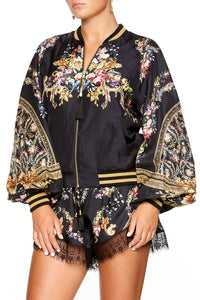 BLOUSON SLEEVE BOMBER FRIEND IN FLORA