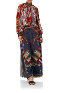 HIGH WAISTED TROUSER WITH GODET THIS CHARMING WOMAN