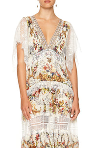 BUTTON UP DRESS WITH LACE INSERT OLYMPE ODE