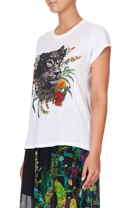 CURVED HEM FITTED TEE PARADISE CIRCUS