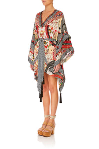 CAMILLA VINTAGE VIXEN DOUBLE LAYER KIMONO SLEEVE DRESS