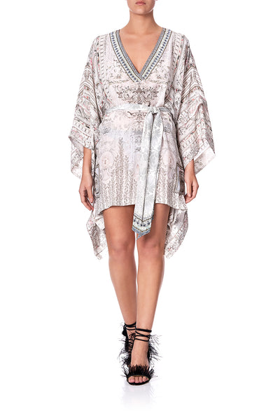 DOUBLE LAYER KIMONO SLEEVE DRESS CRYSTAL CASTLE
