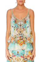 CAMILLA RETROS RAINBOW DOUBLE LAYERED CAMI