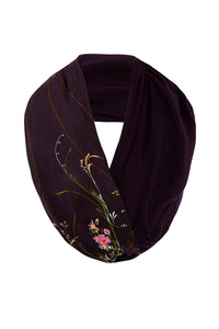 DOUBLE SIDED SCARF WILD FLOWER - O/S