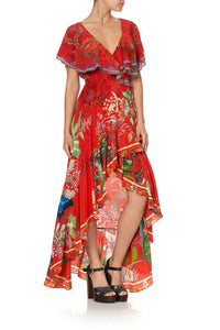 FRILL SLEEVE LONG DRESS FARAWAY TREE