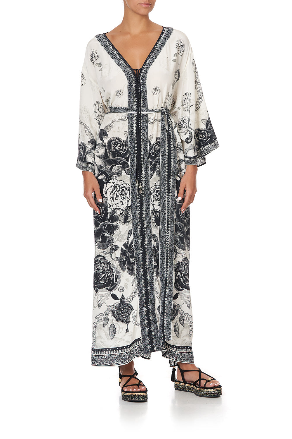 DROP SHOULDER KAFTAN MIDNIGHT PEARL