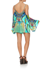 DROP SHOULDER PLAYSUIT REEF WARRIOR