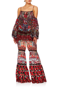 QUEEN ALIKA WIDE LEG TIERED PANT