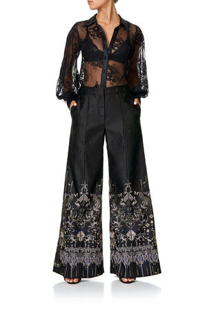 128a4638948 JACQUARD PANT WITH FRONT SEAMS REBELLE REBELLE (XS)