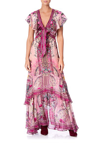 TIE FRONT MAXI WITH CF SPLIT LA BELLE