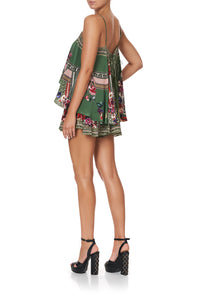FLARED PLAYSUIT WITH OVERLAYER TALES OF TIME