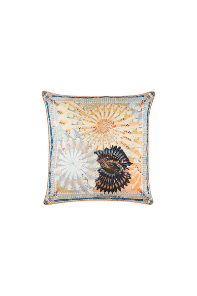 CAMILLA FOR THE FANS SMALL SQUARE CUSHION