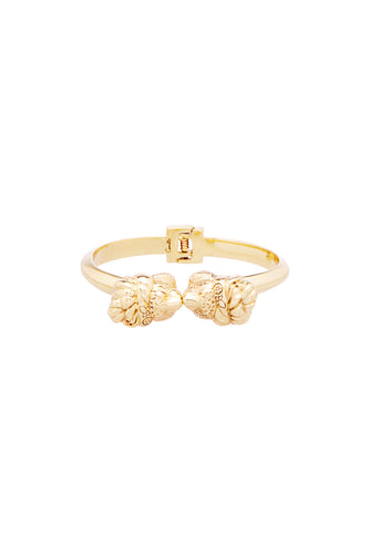 GOLD BRASS TURBAN TIGER BANGLE