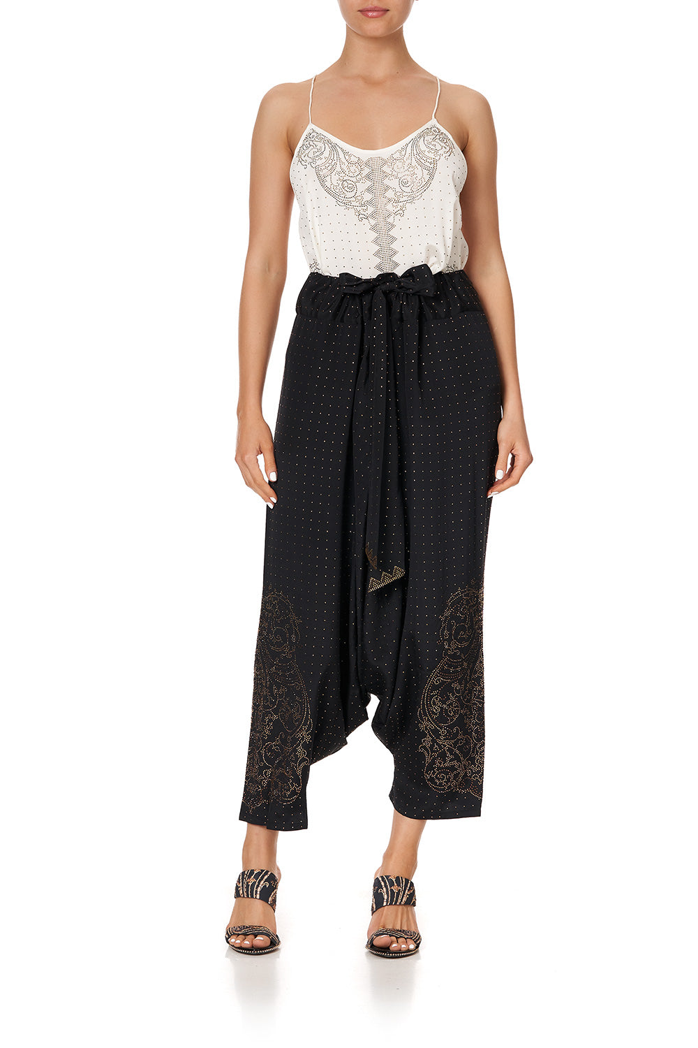 HAREM PANTS LUXE BLACK