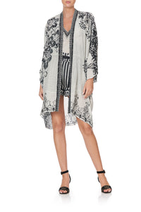 HIGH LOW HEM CASUAL JACKET SILVER LININGS