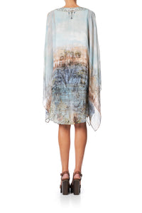 SHEER LAYERED DRESS WITH SPLIT COUNTRY DIARIES