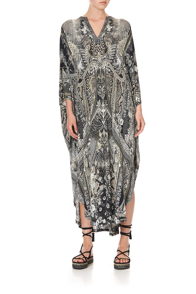 JERSEY LONG KAFTAN WITH ROUNDED HEM ONE TRIBE