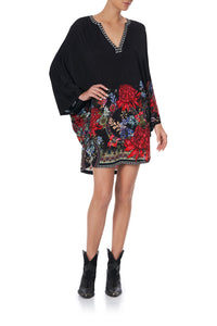 JERSEY SHORT KAFTAN WITH CURVED HEM MS MATILDA