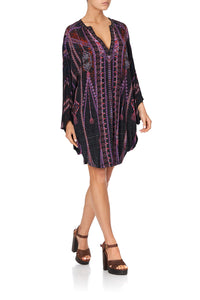 JERSEY SHORT KAFTAN WITH CURVED HEM MINA MINA