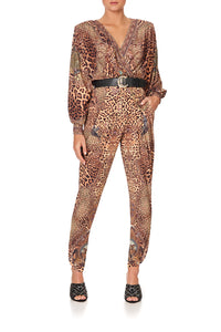 JERSEY TWIST FRONT JUMPSUIT LADY LODGE