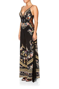 CAMILLA JUMPSUIT WITH LACE INSERT FRIEND IN FLORA