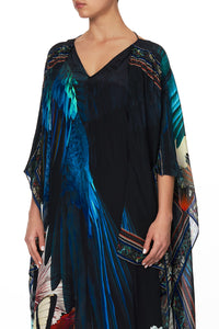KAFTAN WITH DOUBLE SLEEVE NIGHT FLIGHT
