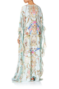 KAFTAN WITH FRILL PANELS VERSAILLES SKY
