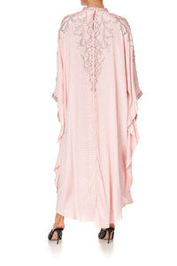 KAFTAN WITH HIGH COLLAR STAND LUXE PINK