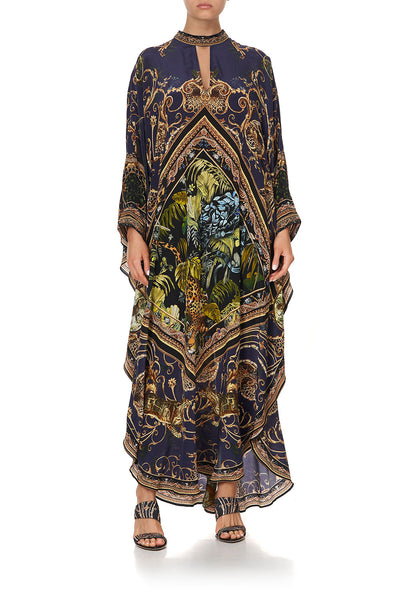 KAFTAN WITH HIGH COLLAR STAND SEVEN DAY WEEKEND