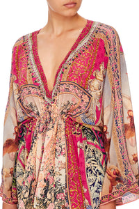 V-NECK KAFTAN WITH TIE WAIST LOUNGE HOUR