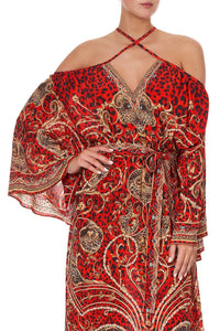 KEYHOLE NECK LONG KAFTAN SLAVE TO THE RHYTHM