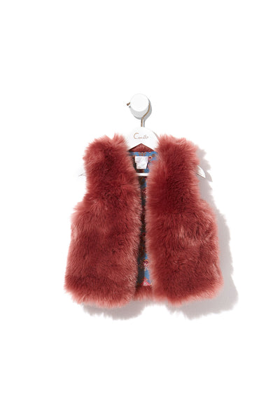 KIDS FAUX FUR VEST JEANNE QUEEN