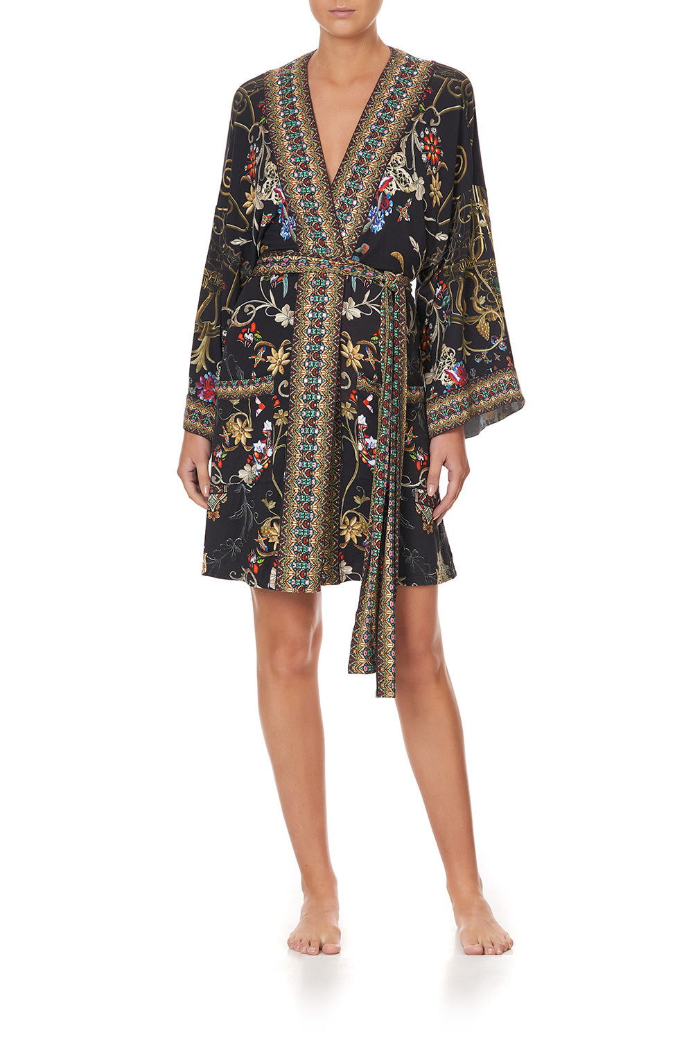 LOUNGE KIMONO WITH TIE BELT DANCING IN THE DARK
