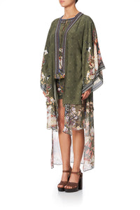 KIMONO WITH LONG UNDERLAYER WATCHFUL WINGS