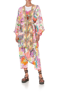 KIMONO WITH TIE BELT LET THE SUN SHINE