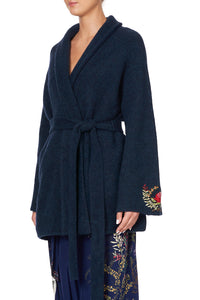 KIMONO KNIT JACKET WINGS IN ARMS